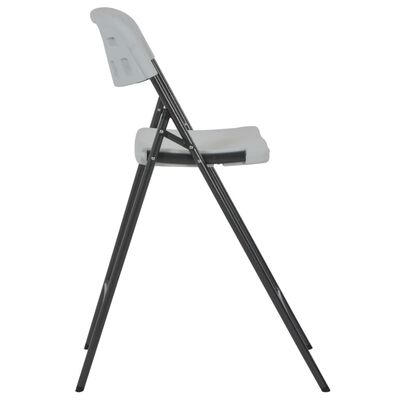 vidaXL Barstoelen inklapbaar 2 st HDPE en staal wit