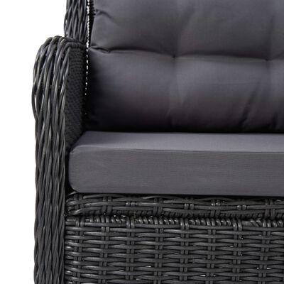 vidaXL 5-delige Tuinset zwart