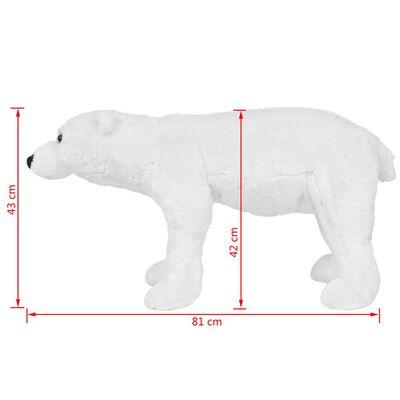 vidaXL Speelgoedijsbeer staand XXL pluche wit