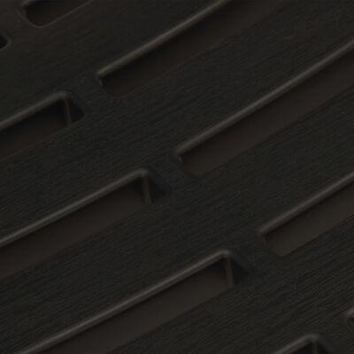 vidaXL 3-delige Bistroset inklapbaar kunststof grijs