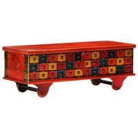 vidaXL Opbergkist 110x40x40 cm massief acaciahout rood