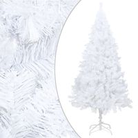 vidaXL Kunstkerstboom met dikke takken 210 cm PVC wit