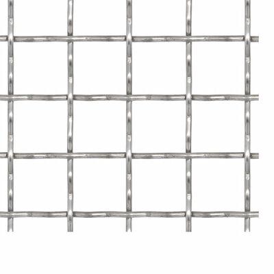 vidaXL Draadhek geweven gaas 100x85 cm 21x21x2,5 mm roestvrij staal