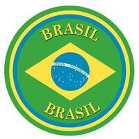 Brazilie versiering onderzetters/bierviltjes - 25 stuks - Brazilie