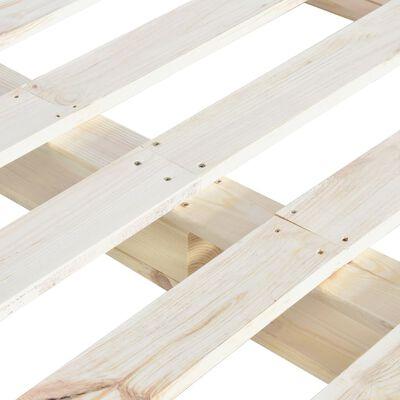 vidaXL Bedframe pallet massief grenenhout 160x200 cm