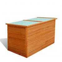 vidaXL Tuinbox 126x72x72 cm hout