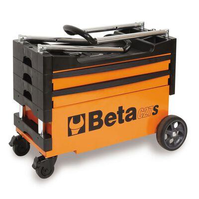 Beta Tools Inklapbare gereedschapswagen C27S-O oranje staal