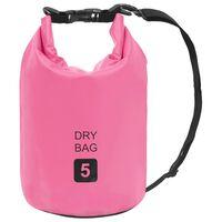 vidaXL Drybag 5 L PVC roze