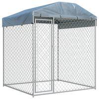 vidaXL Hondenkennel voor buiten met dak 193x193x225 cm