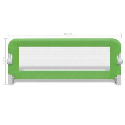 vidaXL Kinderbedhekjes 2 st 102x42 cm groen