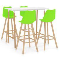 vidaXL 5-delige Barset groen