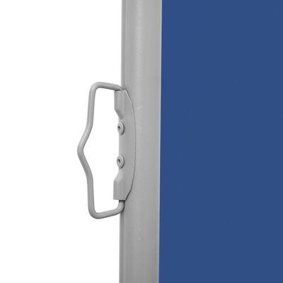 vidaXL Windscherm uittrekbaar 160x600 cm blauw