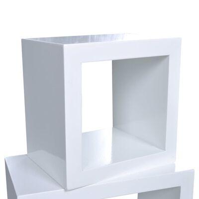 vidaXL Wandplanken kubus 6 st wit