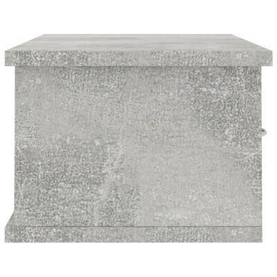 vidaXL Wandschap met lades 60x26x18,5 cm spaanplaat betongrijs, Betongrijs