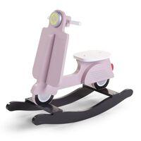 CHILDHOME Hobbelscooter roze en zwart