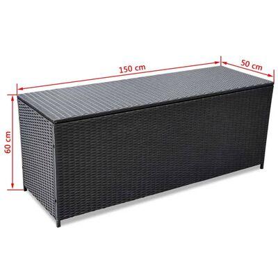 vidaXL Tuinbox 150x50x60 cm poly rattan zwart