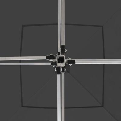vidaXL Partytent professioneel inklapbaar 3x3 m aluminium antraciet