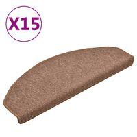 vidaXL Trapmatten 15 st 65x24x4 cm bruin