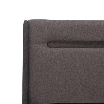 vidaXL Bedframe met LED stof grijs 90x200 cm