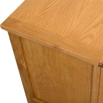 vidaXL Tv-meubel 90x35x48 cm massief eikenhout