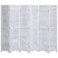 vidaXL Kamerscherm met 6 panelen 210x165 cm hout grijs