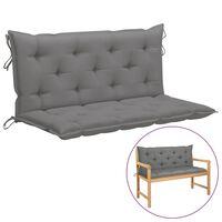 vidaXL Kussen voor schommelstoel 120 cm stof grijs