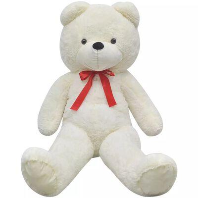 vidaXL Teddybeer XXL 85 cm zacht pluche wit