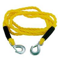 Carpoint sleepkabel 3 ton 3 meter 14mm geel in zipperbag
