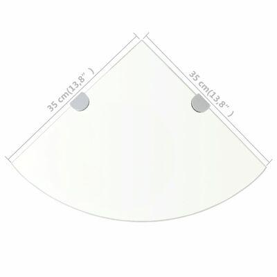 vidaXL Hoekschap met chromen dragers transparant 35x35 cm glas,