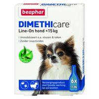 Beaphar Dimethicare Line-on Hond Tegen Vlooien En Teken <15 Kg 6 Pip