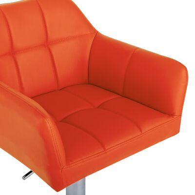 vidaXL Barkruk met armleuning kunstleer oranje