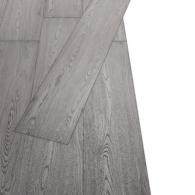 vidaXL Vloerplanken 4,46 m² 3 mm PVC donkergrijs
