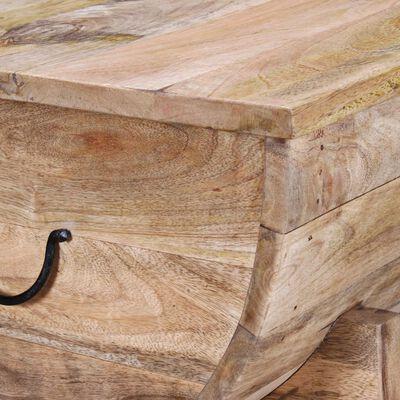 vidaXL Salontafel 88x50x40 cm massief mangohout