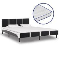 vidaXL Bed met traagschuim matras kunstleer 160x200 cm