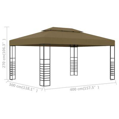 vidaXL Prieel 180 g/m² 3x4 m taupe