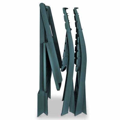 vidaXL 3-delige Bistroset inklapbaar kunststof groen