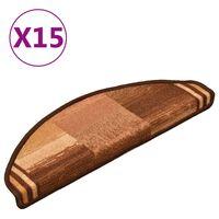 vidaXL Trapmatten zelfklevend 15 st 65x21x4 cm bruin