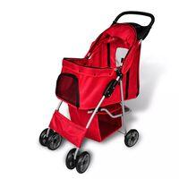 vidaXL Wandelwagen voor hond rood
