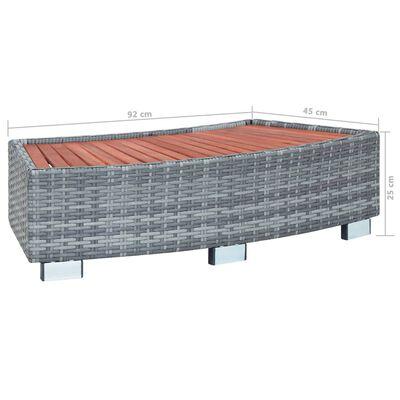 vidaXL Spa trapje 92x45x25 cm poly rattan grijs