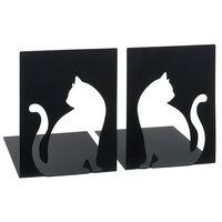 Moses Libri_x boekensteunen kat staal zwart 2 stuks