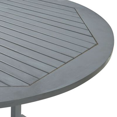 vidaXL Tuintafel 200x100x74 cm massief acaciahout grijs