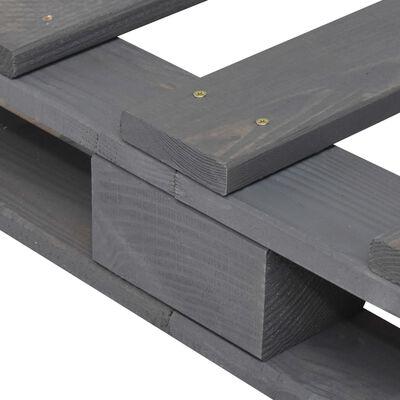 vidaXL Bedframe pallet massief grenenhout grijs 140x200 cm