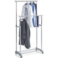 Mobiel kledingrek verstelbare dubbele stang 107 cm - Zeller - Kleding