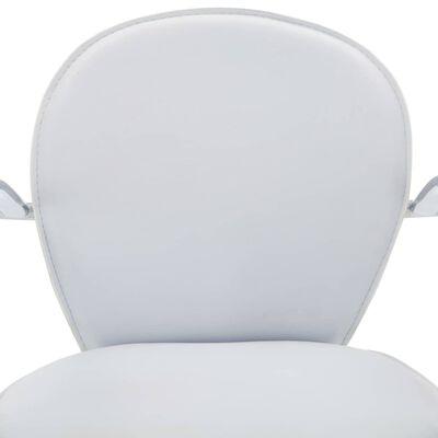 vidaXL Barkrukken met armleuning 2 st kunstleer wit