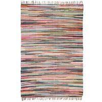 vidaXL Vloerkleed Chindi handgeweven 160x230 cm katoen meerkleurig