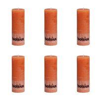 Bolsius Stompkaars rustiek 190x68 mm oranje 6 st