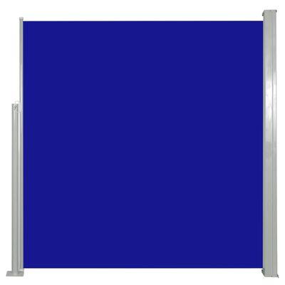 vidaXL Windscherm uittrekbaar 140x300 cm blauw , Blue