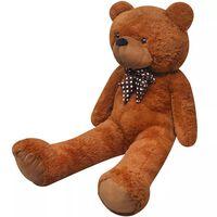 vidaXL Teddybeer XXL 135 cm zacht pluche bruin