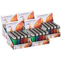 250x Aanstekers in verschillende kleuren 2 x 1 x 8 cm - Sigaretten