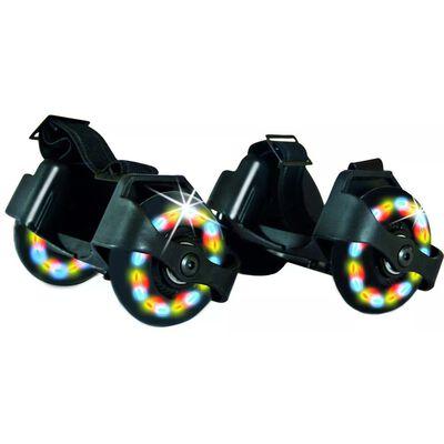 Donic Schildkröt hielwieltjes met led-lampjes junior 2 stuks zwart,